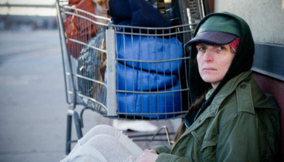Homeless Woman Veteran-homethird