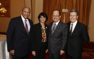Togo West, Jr., Rep. Lucille Roybal-Allard, USC President Max Nikias and Roybal Executive Director Bill Vega.