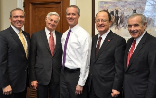 Anthony Hassan, Bruce Ramer, Mac Thornberry, USC President C. L. Max Nikias and Edward Roski, from left, in Washington, D.C.