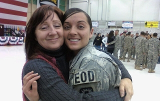 MSW@USC student Shawn Cervantes with her daughter Staff Sgt. Paris Cervantes.