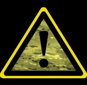 Military Hazard Sign