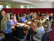 LAVC and Legal and Re-Entry's passionate fighter, Jodi Galvin, gathered veteran service providers and concerned veterans together to discuss the need for LA County to link incarcerated veterans to the proper services and resources they need for reintegration back into the community.